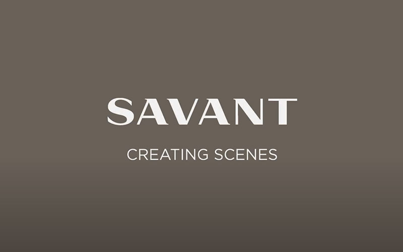Savant Pro App - Creating a Savant Scene