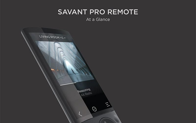 Savant Pro Remote At-a-Glance
